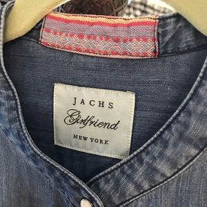 JACHS Girlfriend Tops - Jachs NY jean blouse with trim XL